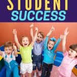 An easy path to student success children cheering