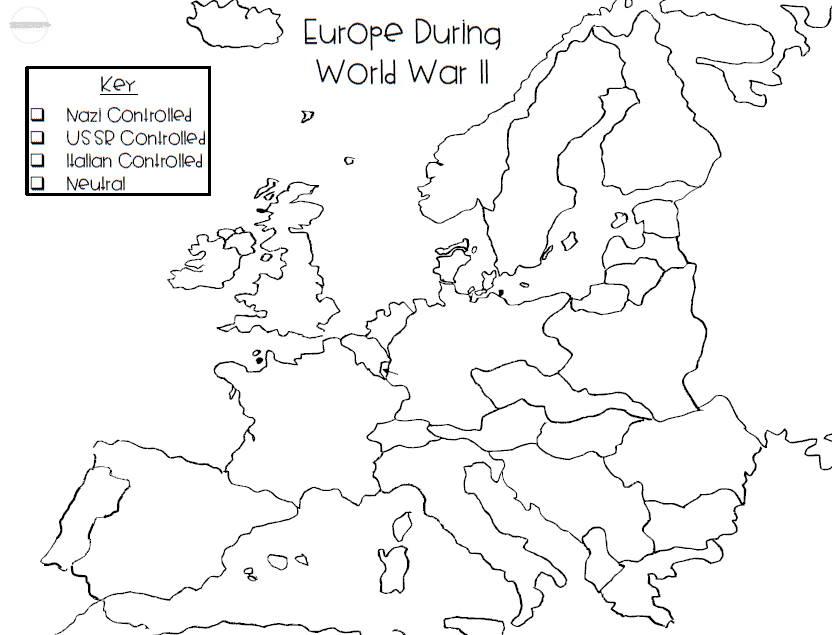 map of wwii europe