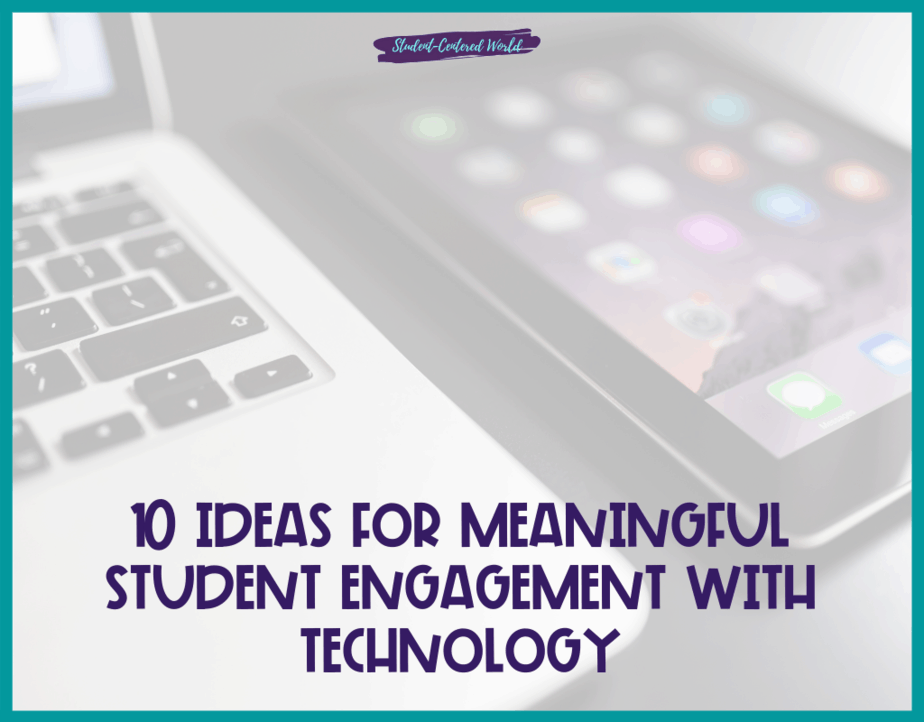 student engagement with technology